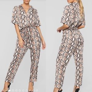 Other - Snake print jumpsuit romper